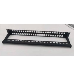 1U Blank Patch Panel with 48 Ports